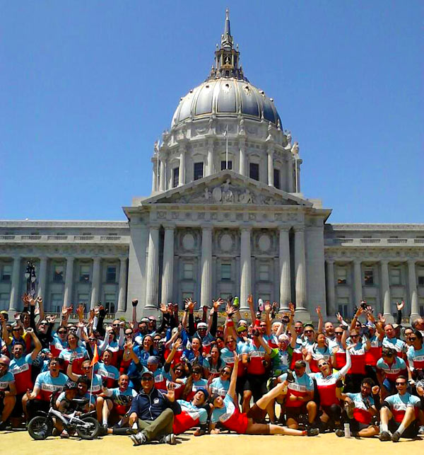 Climate Riders at San Francisco City Hall
