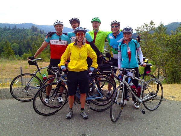Team B the Change on day one of Climate Ride California.