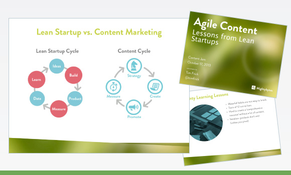 Agile Content: Lessons from Lean Startups Presentation